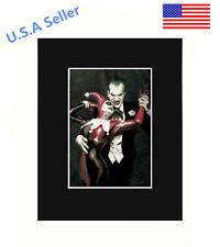 Joker & Harley Quinn Portrait Dance Dancing 8x10 matted Art Print Poster Decor