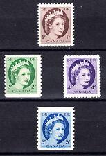 CANADA  337 340 345 348 QUEEN ELIZABETH II PERF12+COILS   1954  MLH OG VF C526a