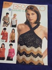LEISURE CLASS BERROCO KNITTING PATTERN BOOK 17 DESIGNS FOR UNUSUAL  TOPS