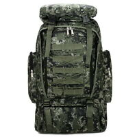 55L Militar Tactical Backpack Rucksack Camping Hiking Bag Outdoor @