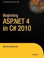 Beginning ASP. NET 4 in C# 2010 by Matthew MacDonald (2010, Paperback, New...