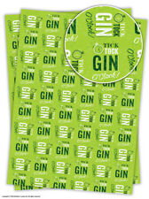 Brainbox Candy Gin O'Clock wrapping paper gift wrap sheets birthday funny green