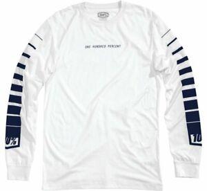 100% Men's Breakaway Long Sleeve Tee Shirt White S