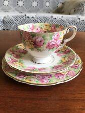 Vintage Royal Stafford Rosanne Trio Made In England High Tea