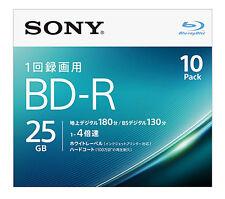10+1 Free Sony Bluray BD-R 25GB Blu ray DVD 4X Speed Inkjet Printable Repacked