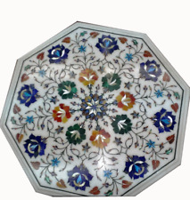 """12"""" Marble sofa side Table Top Inlay Handmade floral Work Home Decorative"""