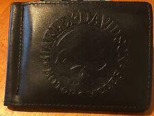 rare Harley Davidson Willie G Skull Leather Wallet / Money Clip