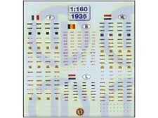 TL-Decals 1936 - Decals KFZ-Kennzeichen BeNeLux+Frankreich - Spur N - NEU