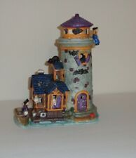 Halloween Village Haunted Lighthouse Light Up Porcelain Piece Boat