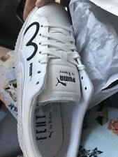 puma white leather shoes womens Size9.5