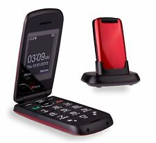 TTfone TT300 Star Flip Big Button Senior Mobile Phone Folding Red - 14day