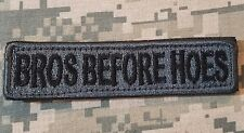 BROS BEFORE HOES ARMY TAB ROCKER USA MORALE ACU DARK VELCRO® BRAND BADGE PATCH