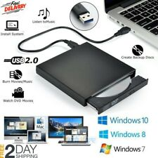 2.0 USB External Disc Player Combo DVD CD RW Burner Writer Drive Laptop Computer
