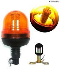 More details for 1x 60 led emergency warning strobe amber light beacon flexible din pole + spigot