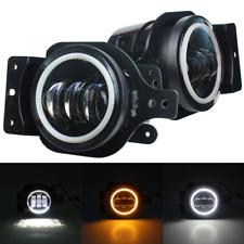 Eagle Lights Halo LED Fog Light Lamp Kit for 18-20 Jeep Wrangler JL Sport SportS