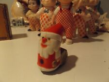 1960s SANTA PLASTIC FRICTION TOY W/ SACK OF TOYS !!!!