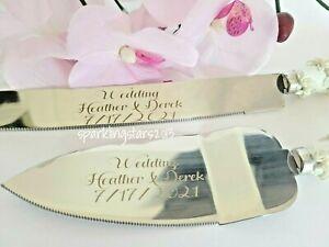 Personalized Custom Wedding Quince Elegant Cake Knife Server Set