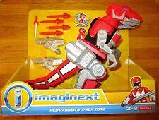 Imaginext POWER RANGERS RED RANGER T-REX ZORD MMPR TYRANNOSAURUS JASON DINOZORD