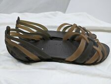 CROCS Women's STRAP SLIP ON Sandals, 10 M, BROWN JELLY Shoes