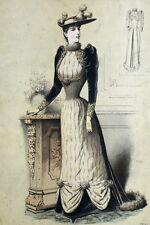 Legrand Mode Fashion Robe Haute Couture Paris Elegant Gourbaud Lithographie 19e
