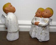 Vintage Angel Figurine Lot Jullar Spain Terracotta Pottery