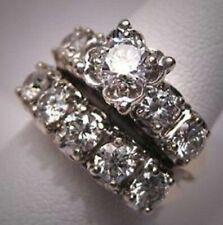 2.50Ct Round-Cut Diamond Halo Bridal Set Engagement Ring 14k white Gold Over