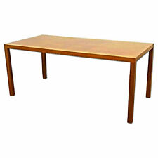 """New listing 72""""L Silky Oak Desk Secretary Writing Conference Table Console Mid Century Moder"""