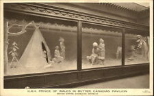 "Wembley London 1924 British Empire exihibition ""Prince of Wales in Butter"" AK"