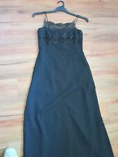 BEAUTIFUL BLACK EVENING DRESS, SEQUINED BODICE, SIZE 10/12 BY TOUR
