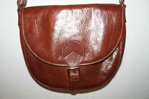 CHIARUGI Damentasche Handtasche Umhängetasche Leder Braun