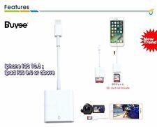 2 en 1 Lightning a Lector de Tarjetas SD Cámara Adaptador Para iPhone 6/6s/iPad