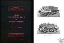 Universal Carrier Bren Gun RARE SERVICE MANUAL ARCHIVE WW2 1940's historic