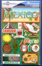 TRAVEL MEXICO  DIE CUT STICKERS BY REMINISCE