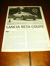 1976 LANCIA BETA COUPE ORIGINAL ARTICLE