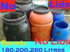 Water Drum,Barrels (Plastic) $10,Each Lots of 3 For $30 ## NO LIDS##FOOD Grade