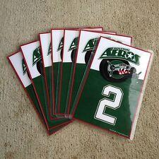 "Tag Up AHL Houston Aeros Bag Tags Numbers and Initals 5""X3"" 2118"