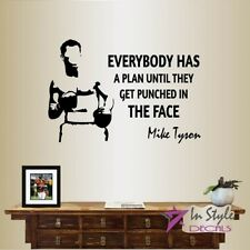 Vinyl Decal Mike Tyson Quote Everyone Has Plan Until... Boxing Wall Sticker 2169