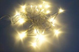 30 LED Lichterkette Kabel Strom Warmweiß Innen