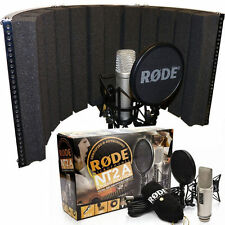 Rode NT2A Microphone Bundle with Sound Reflection Screen Vocal Recording Booth