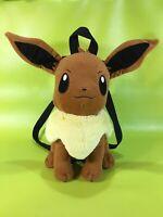 "Pokemon Eevee 14"" Plush Backpack Back Pack Tote Bag by Nintendo 2015"