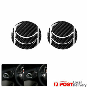 Vehicle Left Right Exhaust Vent Carbon Fiber Sticker Decal For Nissan 350Z 10PCS