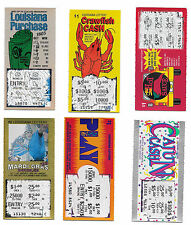 25 ASSORTED USED NON-WINNING LOUISIANA LOTTERY SCRATCH OFF TICKETS