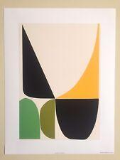 "MODERNIST SOSTARKO & ODD ARCHIVAL FINE ART ABSTRACT PRINT "" GREEN & YELLOW """