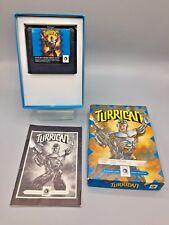 Turrican (Sega Genesis, 1991) Complete CIB Box Manual - Cleaned and Tested