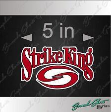 """STRIKE KING Fishing Logo / SINGLE / 5"""" Vehicle Vinyl Decal Watercraft Sticker"""