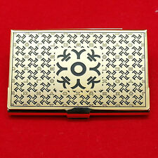 Korean alphabet gold business card case elegant ID card metal case