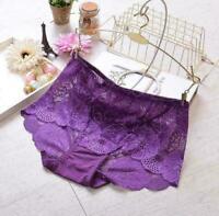 Women's Lace Flower G-string Thongs Briefs Panties Seamless Underwear Knickers