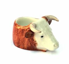 Quail POTTERY - HEREFORD BULL FACE - EGG CUP