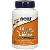NOW Foods Probiotic Lactobacillus Acidophilus Bifidobacterium Longum | 120 Vcaps