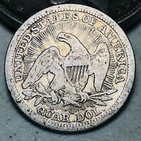 1853 Seated Liberty Quarter 25C RAYS & ARROWS Ungraded 90% Silver US Coin CC7126